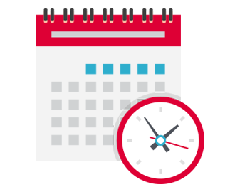 Calender representing a daily or monthly loan payment